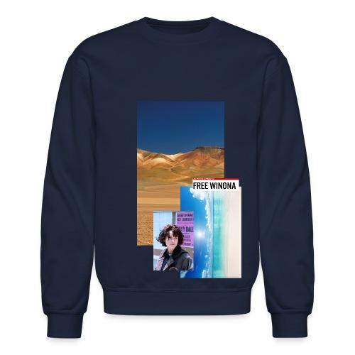 Free Winona Beach and desert Sweatshirt Navy - Crewneck Sweatshirt