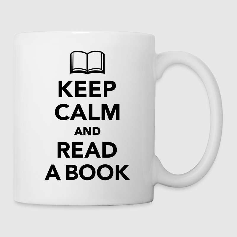 Keep calm and read a book Mugs & Drinkware - Coffee/Tea Mug