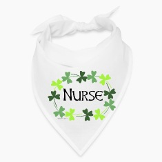 Nurse Shamrock Oval Caps