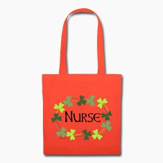 Nurse Shamrock Oval Bags & backpacks
