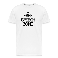 T-Shirts ~ Men's Premium T-Shirt ~ Free speech zone