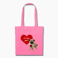 Valentine´s Day Pug Bags & backpacks
