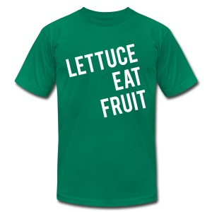 Lettuce Eat Fruit - Mens Tee - Men's T-Shirt by American Apparel