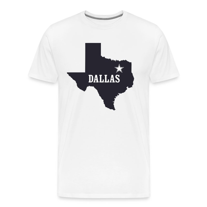 Dallas texas lone star t shirt t shirt spreadshirt for Wholesale t shirts dallas tx