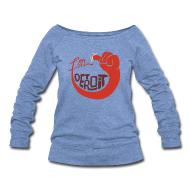 Long Sleeve Shirts ~ Women's Wideneck Sweatshirt ~ I'm Detroit