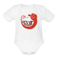 Baby Bodysuits ~ Baby Short Sleeve One Piece ~ I'm Detroit