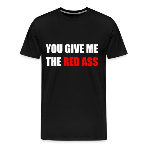 Men's Black Red Ass Shirt - Men's Premium T-Shirt