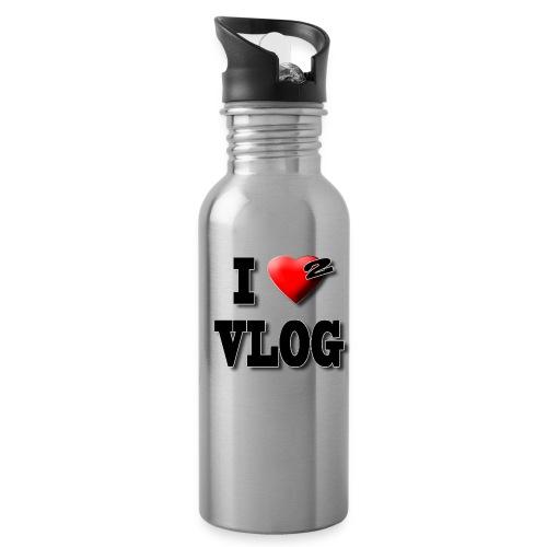 I Love 2 Vlog  Water Bottle - Water Bottle