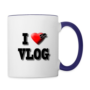 I Love 2 Vlog - Contrast Coffee Mug