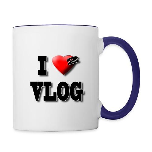 I Love 2 Vlog - Contrast Coffee Mug