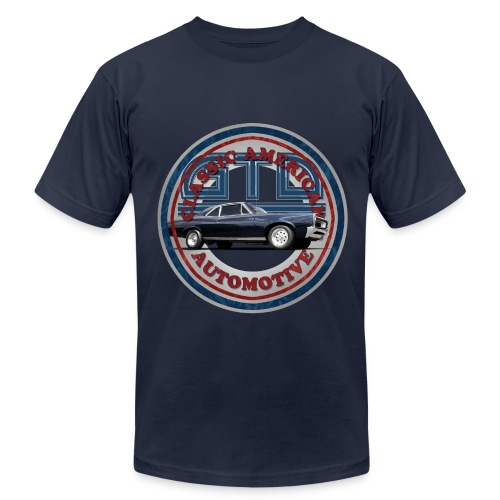 Mens T-shirt by American Apparel | 65 Pontiac GTO | Classic American Automotive - Men's Fine Jersey T-Shirt