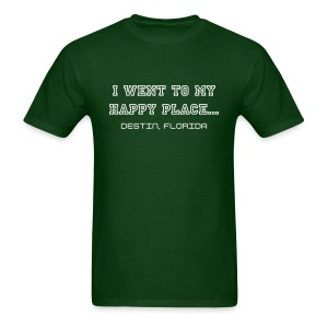 I went to my happy place - Mens / White print - Men's T-Shirt