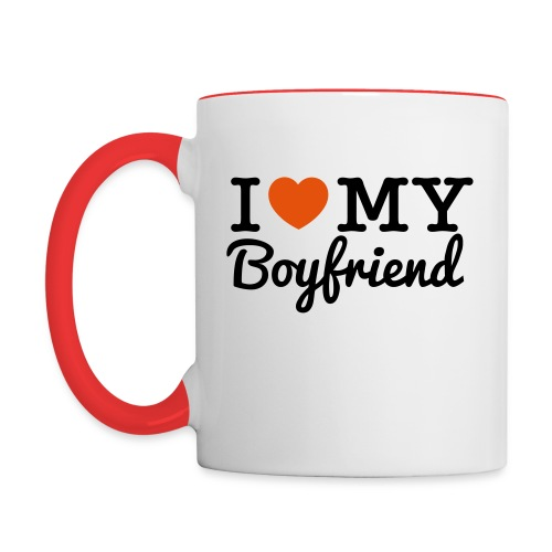 I Heart My Boyfriend - Contrast Coffee Mug