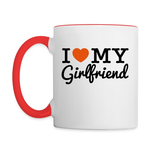 I Heart MY Girlfriend - Contrast Coffee Mug