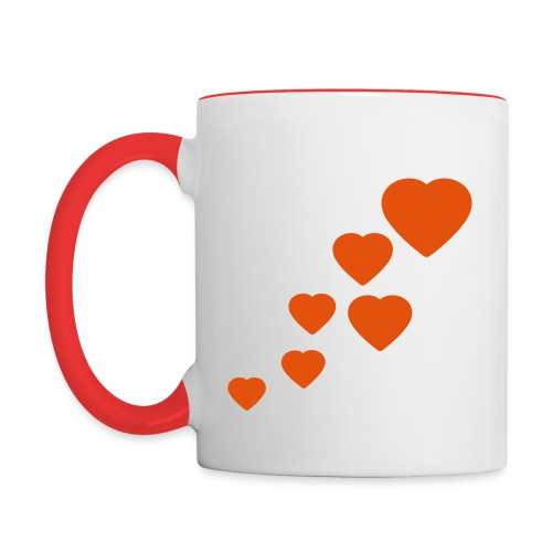 Hearts - Contrast Coffee Mug
