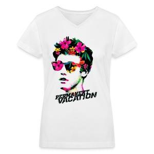 LAT for ladies  - Women's V-Neck T-Shirt