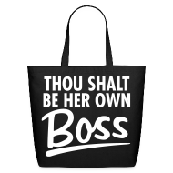 Bags & backpacks ~ Eco-Friendly Cotton Tote ~ Thou Shalt be her own boss