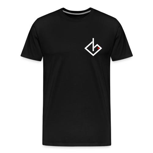 Always On White/Red Logo - Extended Sizes & Colors - Men's Premium T-Shirt