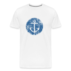 Anchor Sign T-Shirt (Men White) - Men's Premium T-Shirt