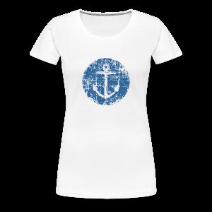Anchor Sign T-Shirt (Women White) - Women's Premium T-Shirt