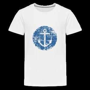 Anchor Sign T-Shirt (Kids White) - Kids' Premium T-Shirt