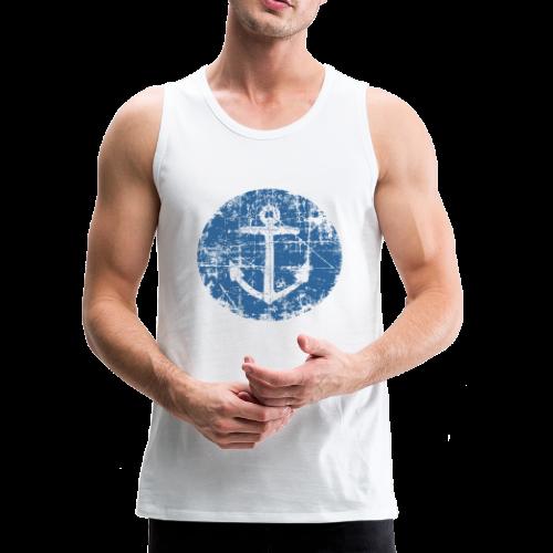 Anchor Sign Tank Top (Men White) - Men's Premium Tank