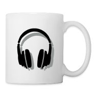 Mugs & Drinkware ~ Coffee/Tea Mug ~ Headphones Mug (White) Shadow