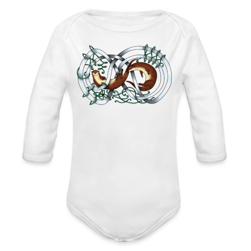 Otters entwined - Long Sleeve Baby Bodysuit