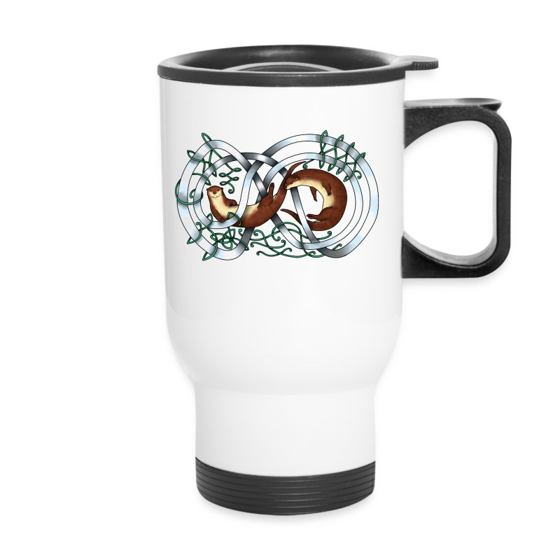 Otters entwined - Travel Mug