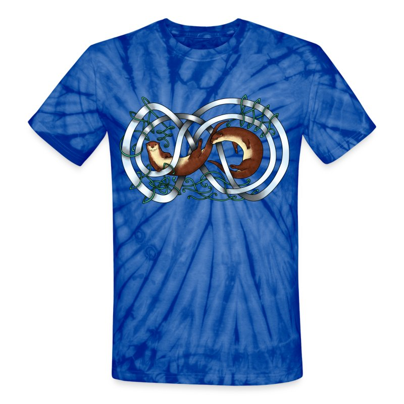 Otters entwined - Unisex Tie Dye T-Shirt