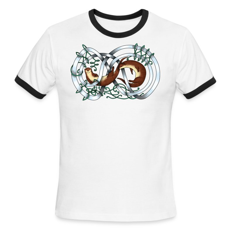 Otters entwined - Men's Ringer T-Shirt