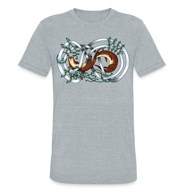 Otters entwined - Unisex Tri-Blend T-Shirt by American Apparel