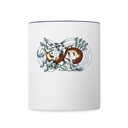 Otters entwined - Contrast Coffee Mug