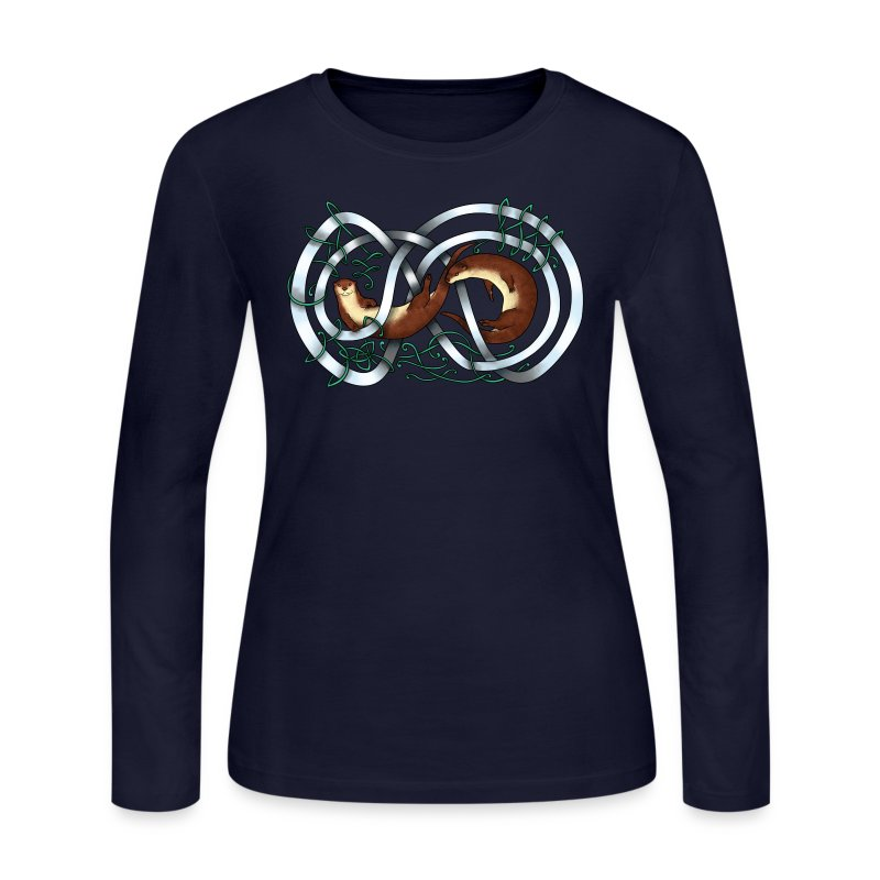 Otters entwined - Women's Long Sleeve Jersey T-Shirt