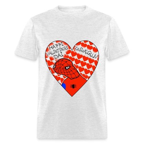 #SWEGLUV Valentine's Day [Black Text] - Men's T-Shirt