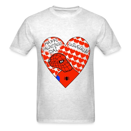 #SWEGLUV Valentine's Day [Black Text] - Men's T-Shirt