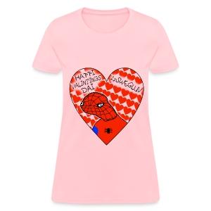 #SWEGLUV Valentine's Day [Black Text] - Women's T-Shirt