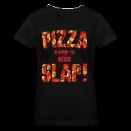 T-Shirts ~ Women's V-Neck T-Shirt ~ Pizza Slap!