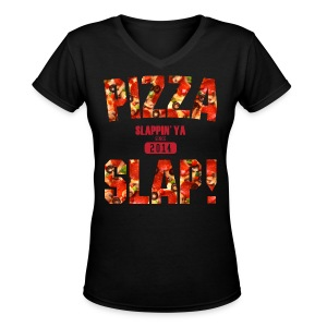 Pizza Slap! - Women's V-Neck T-Shirt