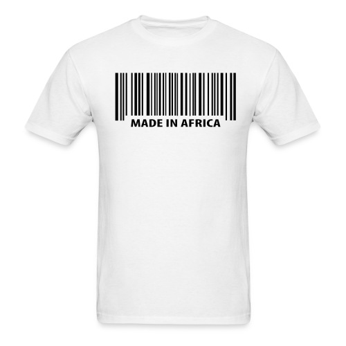 Mens Made in Africa Barcode T shirt - Men's T-Shirt