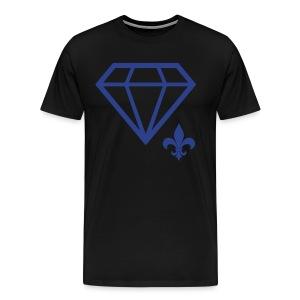 Logo Tee (Blue on Black) - Men's Premium T-Shirt