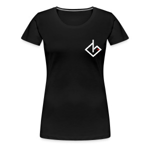 White/Red Logo Women's Extended Sizes & Colors - Women's Premium T-Shirt
