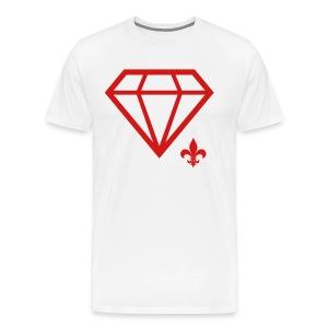 Logo Tee (Red on White) - Men's Premium T-Shirt