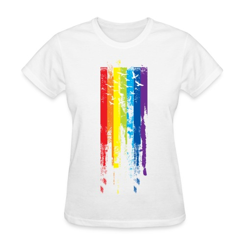 Rainbow birds - Women's T-Shirt