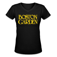 Women's T-Shirts ~ Women's V-Neck T-Shirt ~ Boston Garden