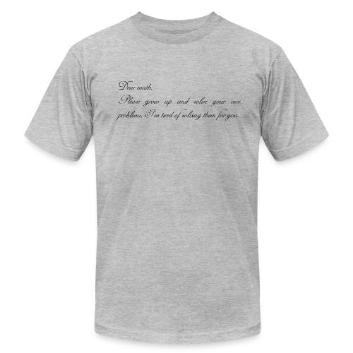 Dear Math T-Shirts - Men's Fine Jersey T-Shirt