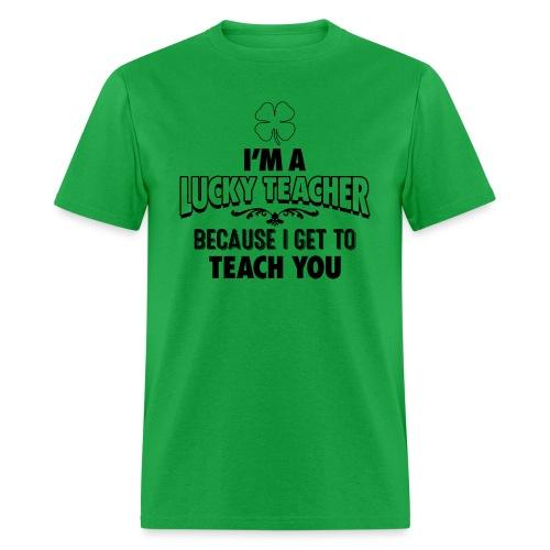 Lucky Teacher - Men's T-Shirt