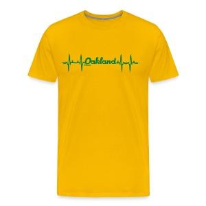 my heart beats Oakland - Men's Premium T-Shirt