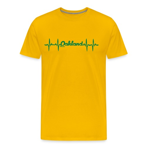 my heart beats Oakland - Men's Premium T-Shirt