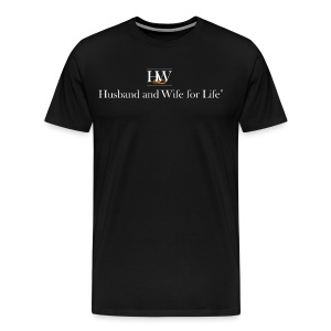 Men's Premium T-Shirt - Crew neck, short sleeve, mens Husband and Wife for Life T-Shirt